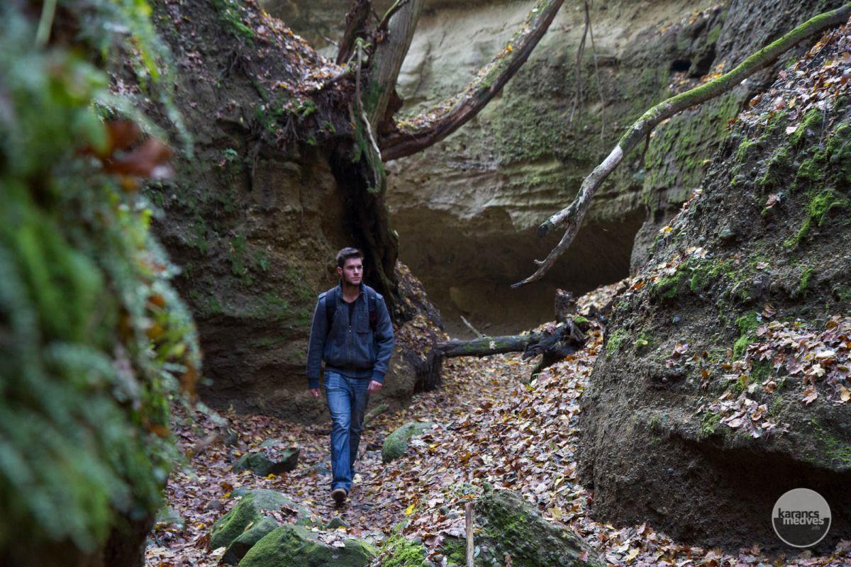 Túrázó a Páris-patak völgyénél (karancs-medves.info fotó: Drexler Szilárd)