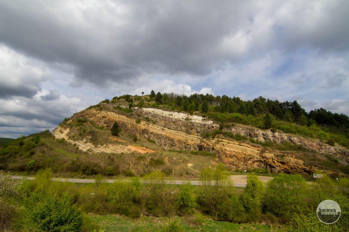 A kőfejtő védett földtani alapszelvénye (karancs-medves.info fotó: Drexler Szilárd)