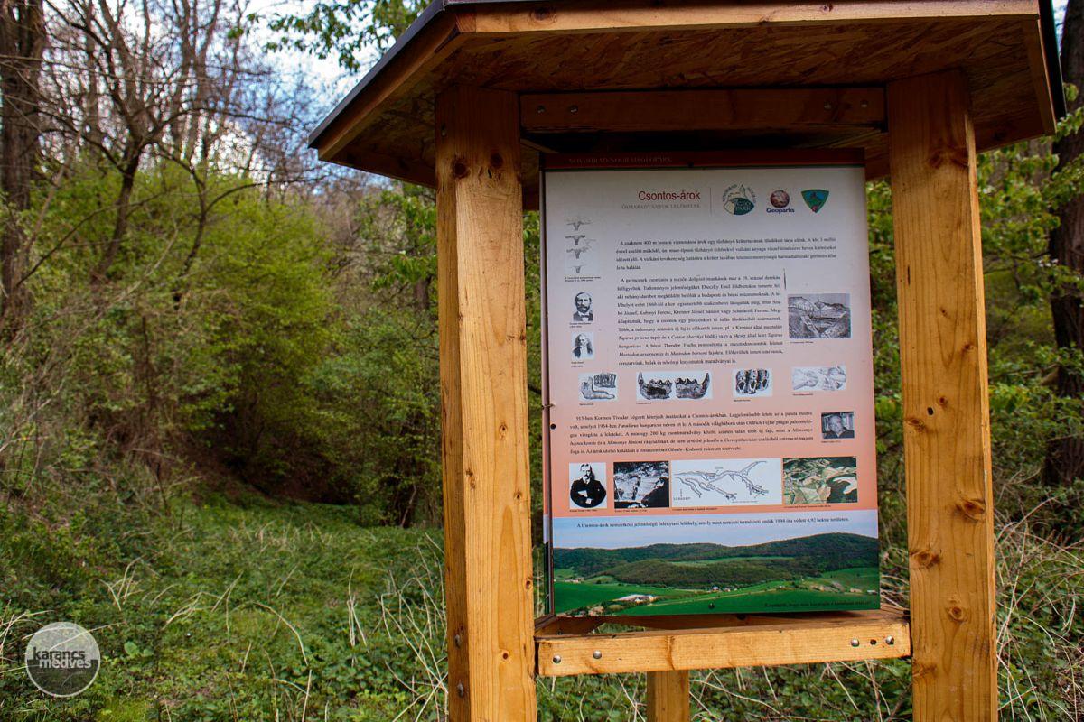Információs tábla segíti a Csontos-árok megismerését (karancs-medves.info fotó: Micsuda András)