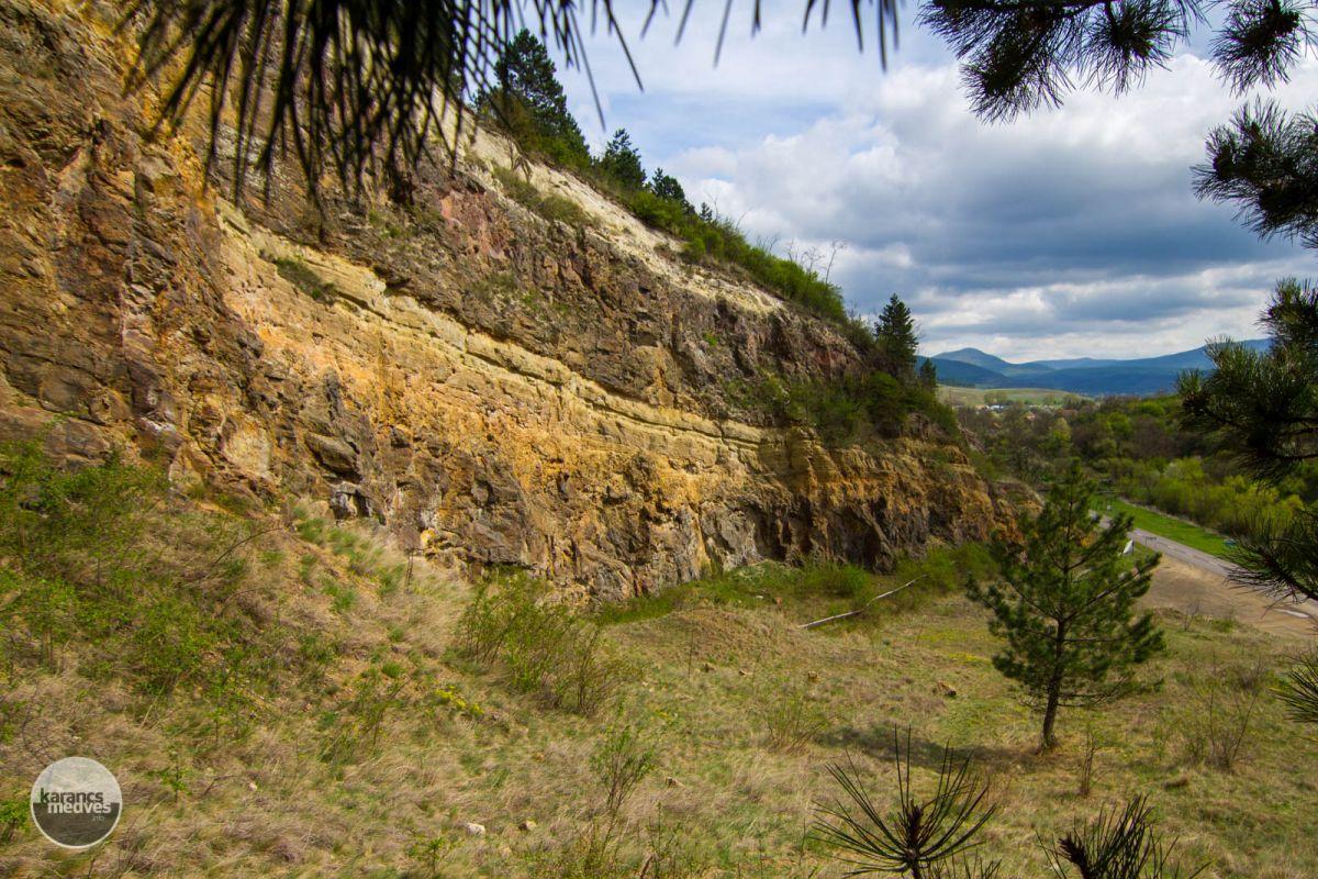 Kiemelt fotó: A kőfejtő védett földtani alapszelvénye (karancs-medves.info fotó: Drexler Szilárd)