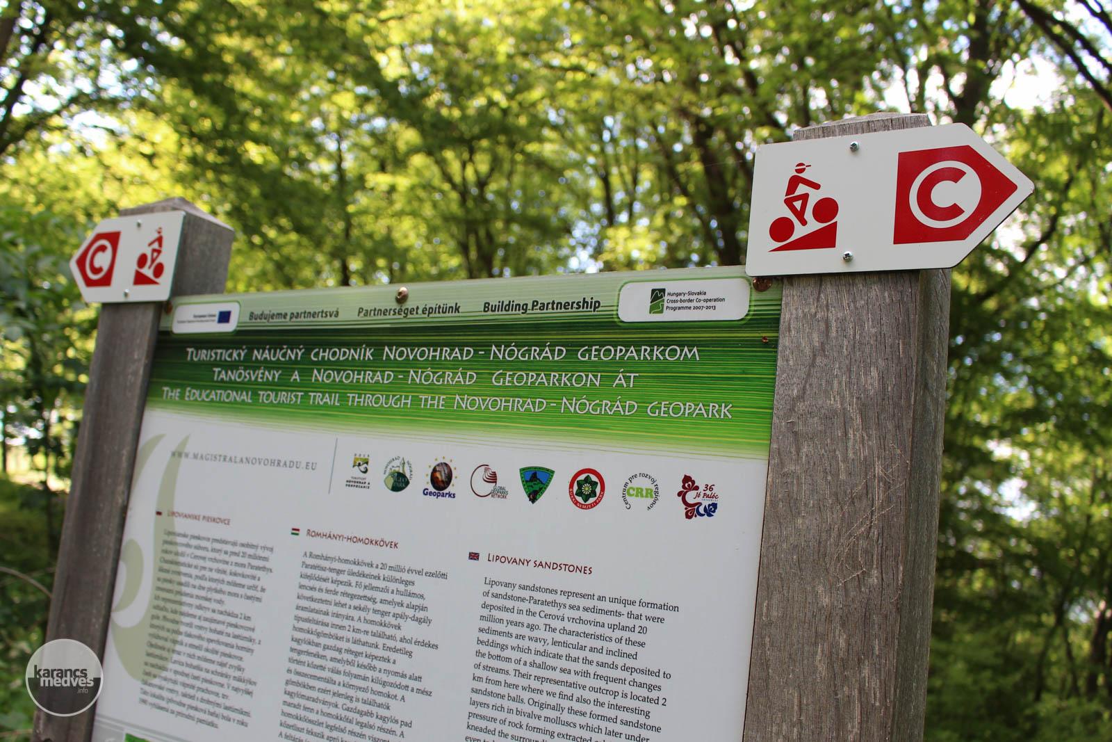 Közép-Európa egyik leghosszabb tanösvénye kanyarog a magyar-szlovák határ nógrádi szakaszán (karancs-medves.info fotó: Kéri István)
