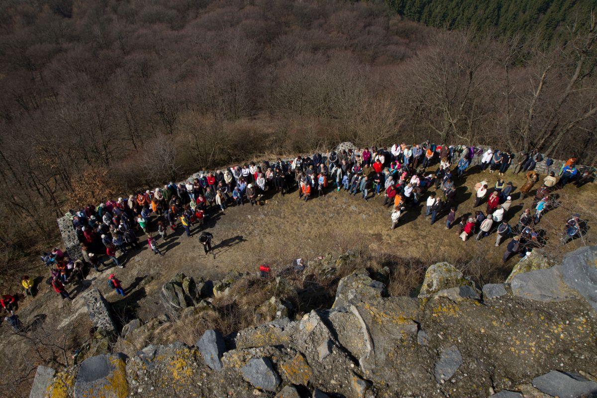 Megemlékezés Salgó várában, 2012. március 15-én (Fotó: Drexler Szilárd)